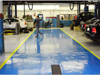 Mechanic Bay Flooring