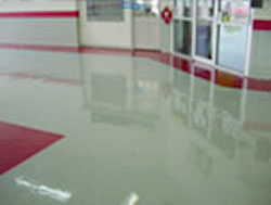 broadcasted urethane epoxy floor coating
