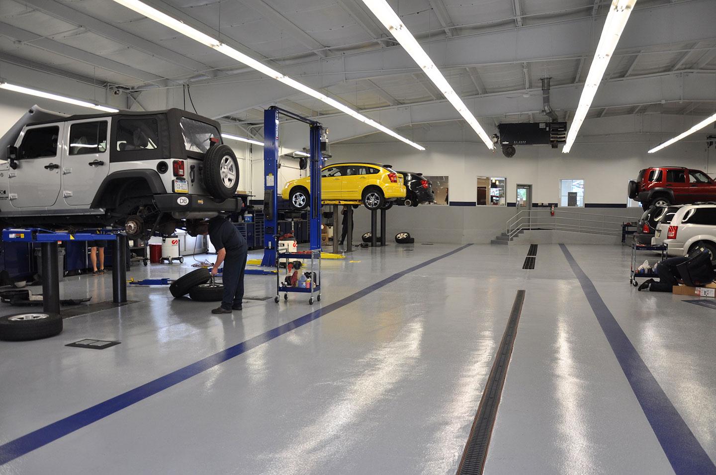 Auto Shop Flooring