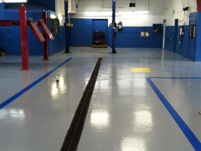 Automotive Service Area Flooring