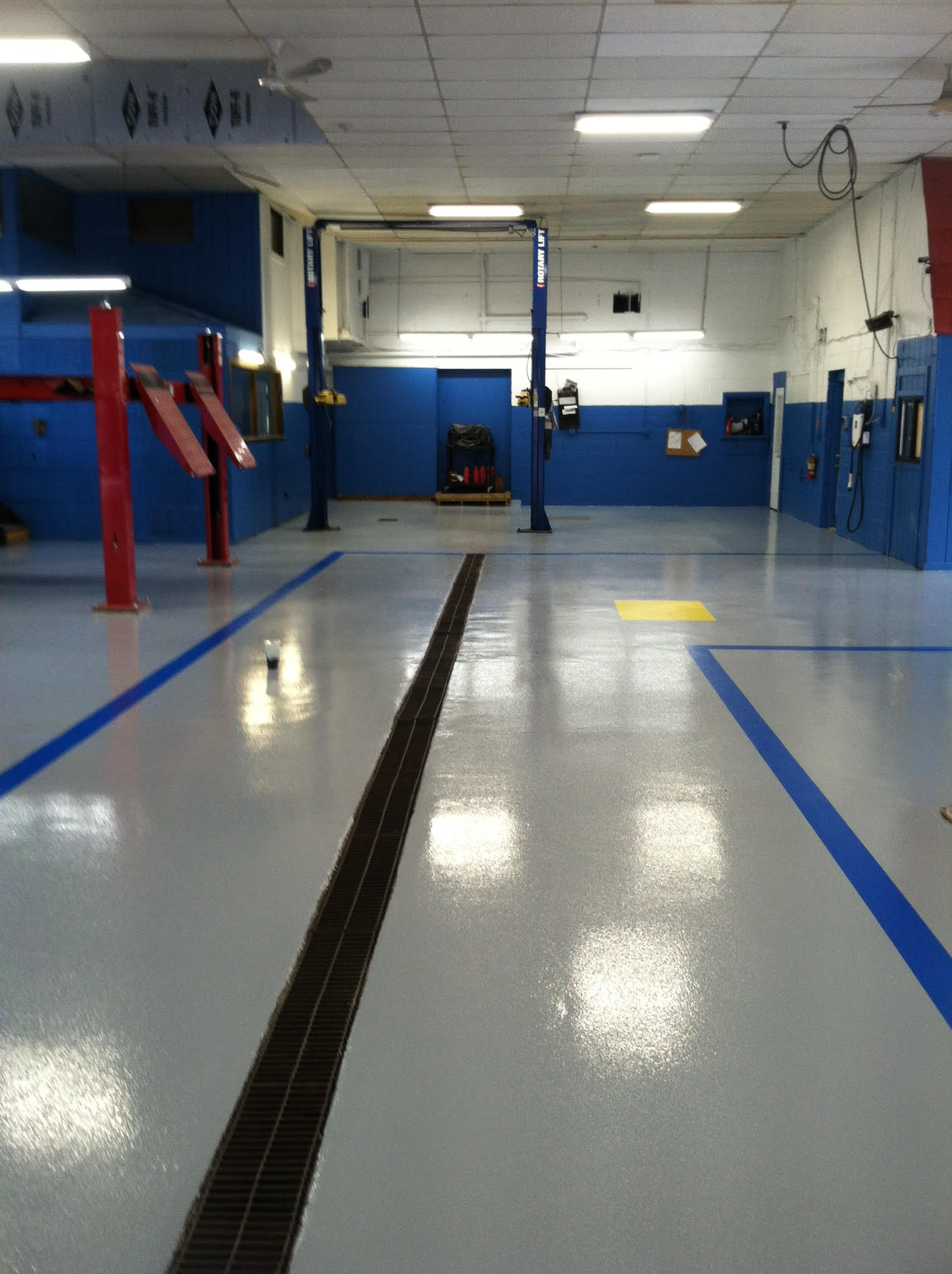 Automotive Service Area Flooring