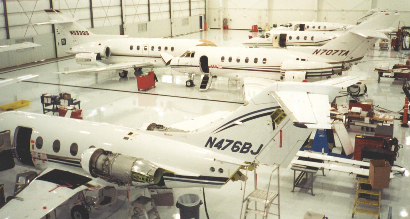 Aviation hangar flooring