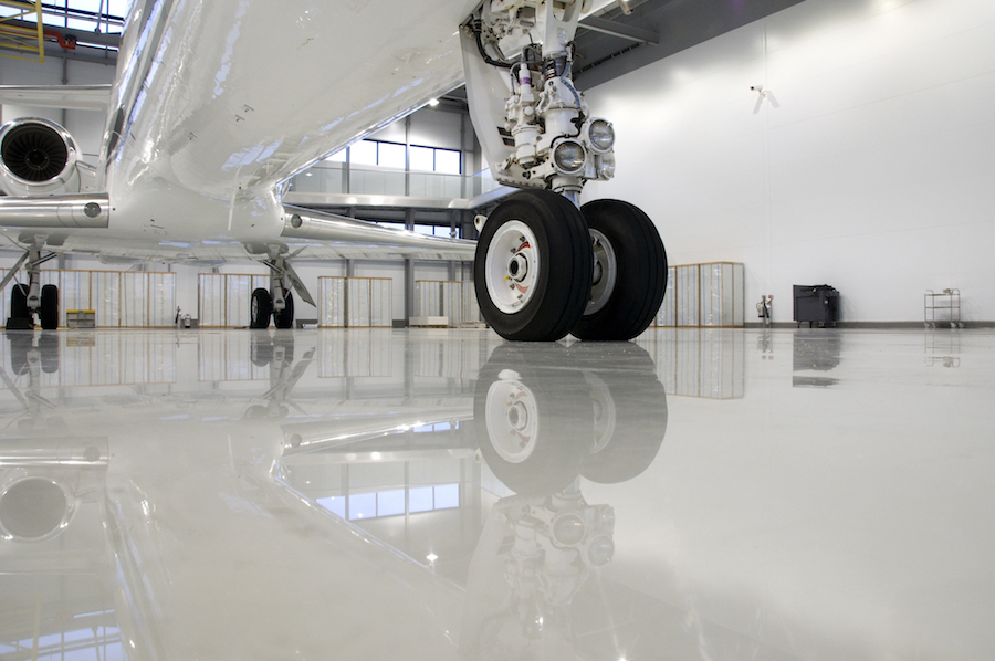 Jet Hangar flooring